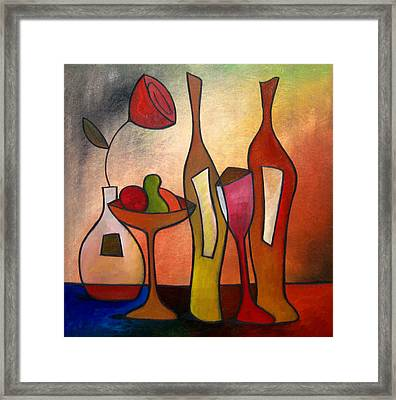 We Can Share - Abstract Wine Art By Fidostudio Framed Print