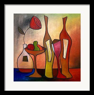Wine Deco Drawings Framed Prints