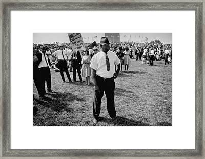 We Demand An End To Bias Now Framed Print by Nat Herz