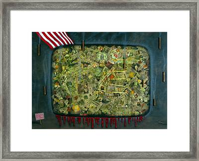 We Don't See The Whole Picture Framed Print by James W Johnson
