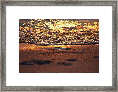 We Each Leave Our Mark, Momentarily Framed Print