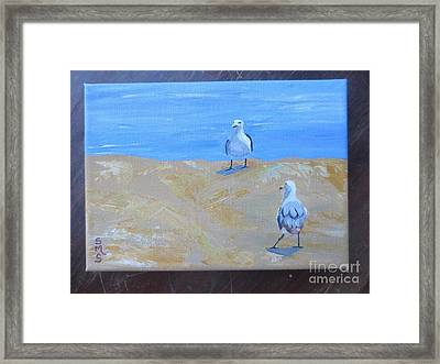 We First Met On The Beach Framed Print by Stella Sherman