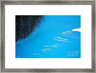 We Got The Blues - Winter In Switzerland Framed Print