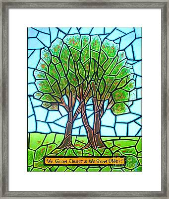 We Grow Closer As We Grow Older Framed Print by Jim Harris