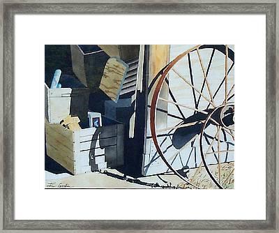 We Left The Barn Door Open Framed Print