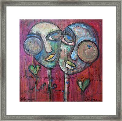 We Live With Love In Our Hearts Framed Print