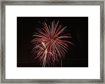 We Love Fireworks Framed Print by Laura Catherine