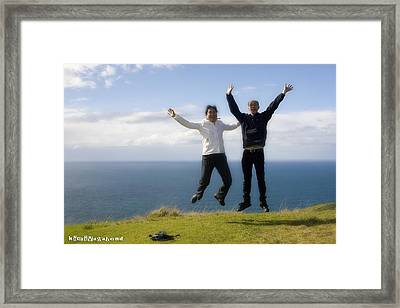 We Love New Zealand Framed Print by Graham Hughes
