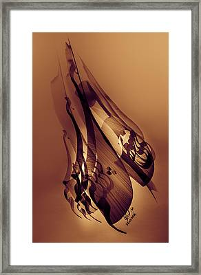 We Love, Therefore We Are Framed Print by Mah FineArt