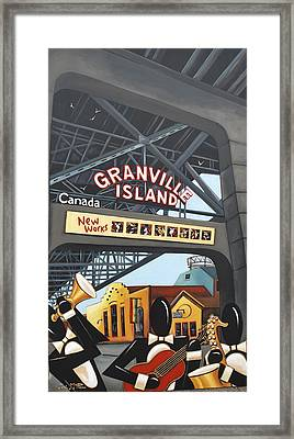 We Made It To Granville Island Framed Print