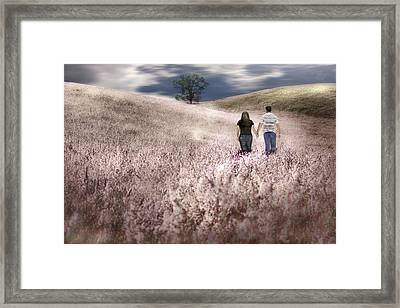 We Made Love Under The Tree Framed Print by Gray  Artus