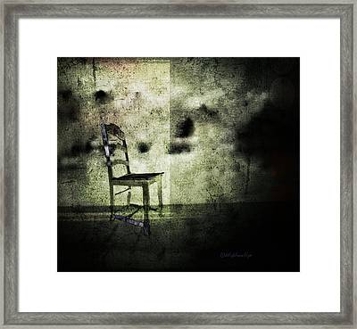 Framed Print featuring the digital art We Never Did That In Our Family by Delight Worthyn