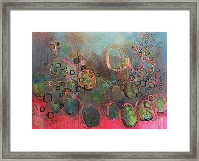 Framed Print featuring the painting We Never Finish Where We Begin by Laurie Maves ART