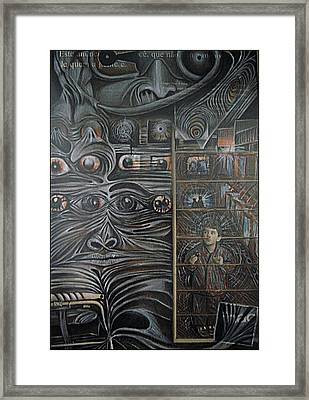 We Observed All The Time Framed Print by Paulo Zerbato