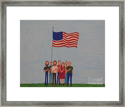 We Pledge Framed Print by Gregory Davis
