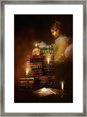 We Read To Know We Are Not Alone Framed Print by Georgiana Romanovna