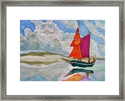 We Sailed Upon A Sea Of Glass Framed Print