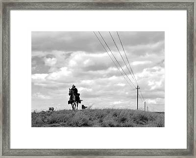 On My Shoulder Framed Print