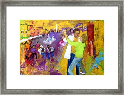 We Tangoed On The Piazza Navono Framed Print