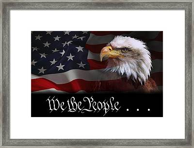 We The People . . . Of The United States Of America Framed Print by Daniel Hagerman