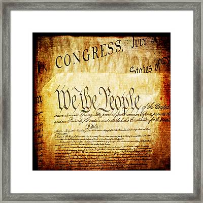 We The People Framed Print by Angelina Vick