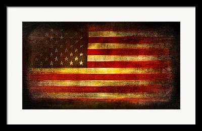 War Torn Flag Framed Prints