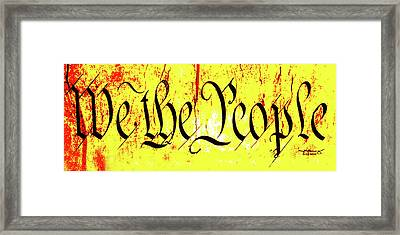 We The People Celebrate A Republic Artist Series Jgibney The Museum Framed Print by The MUSEUM Artist Series jGibney