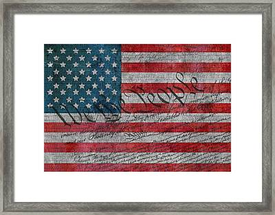We The People Framed Print by Dan Sproul