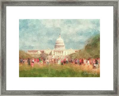 We The People Framed Print by Lois Bryan