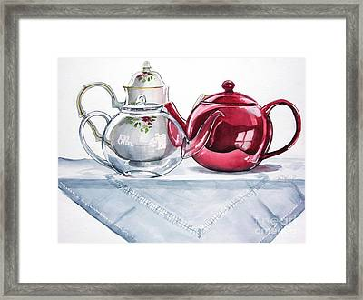 We Three Teapots Framed Print