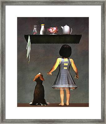 We Want Those Candies Framed Print
