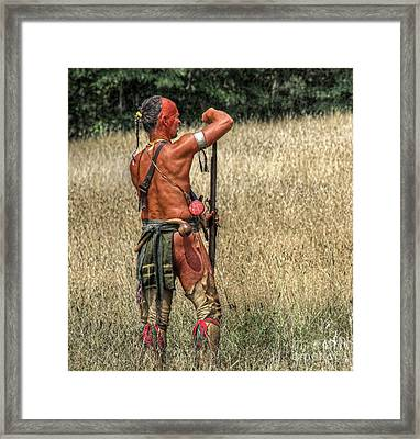 We Were Once Here....shawnee Warrior Framed Print