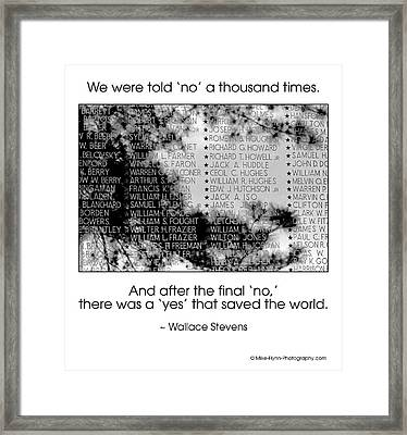 We Were Told No Framed Print