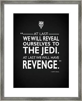 We Will Have Revenge Framed Print by Mark Rogan