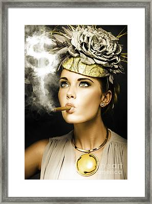 Wealth And Riches Framed Print