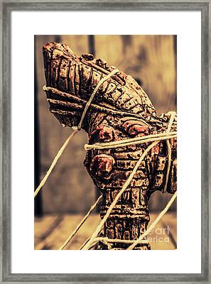Weapon Of Mass Construction Framed Print