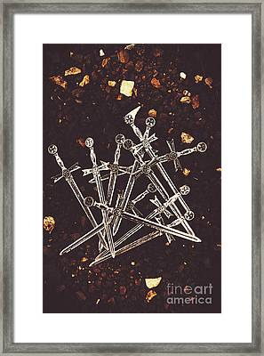 Weaponry Of Ancient War Framed Print