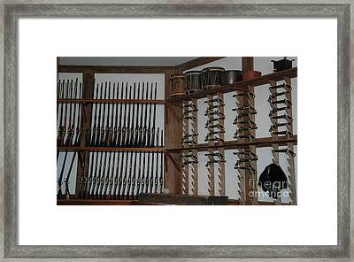 Weapons In The Magazine - Colonial Williamsburg  Framed Print