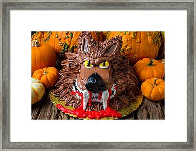 Wearwolf Cake Framed Print by Garry Gay