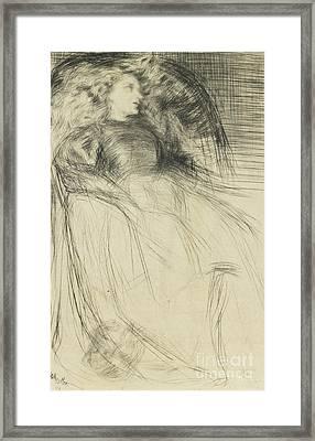 Weary Framed Print by James Abbott McNeill Whistler