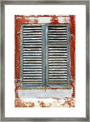 Weather-beaten Window Framed Print by Gaspar Avila