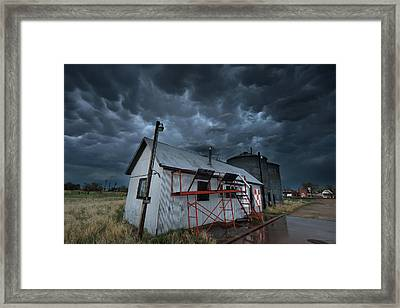 Weather In A Western Small Town Framed Print