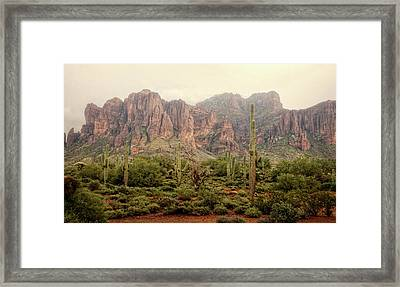 Weather On The Mountain  Framed Print