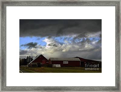 Weather Threatening The Farm Framed Print