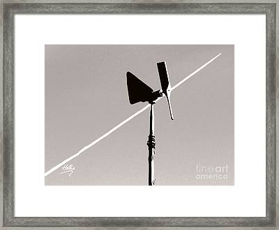 Weather Vane Framed Print