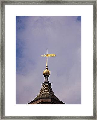 Weather Vane Framed Print by Robert Ullmann