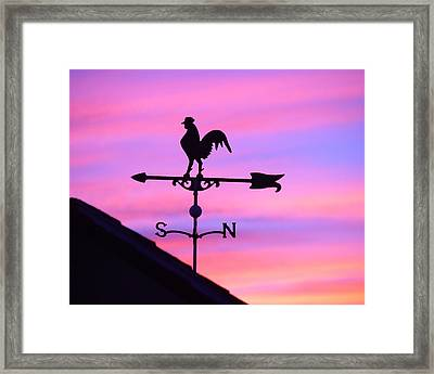 Framed Print featuring the digital art Weather Vane, Wendel's Cock by Jana Russon