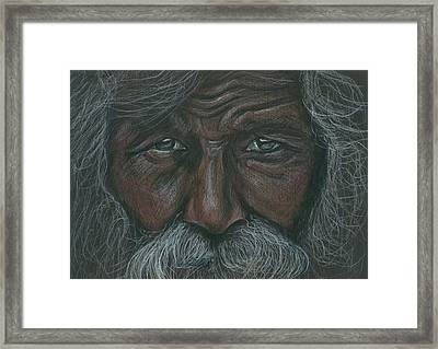 Weathered Aborigine Framed Print