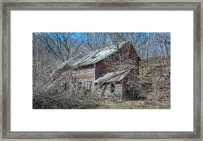 Framed Print featuring the photograph Weathered And Broken by Dan Traun