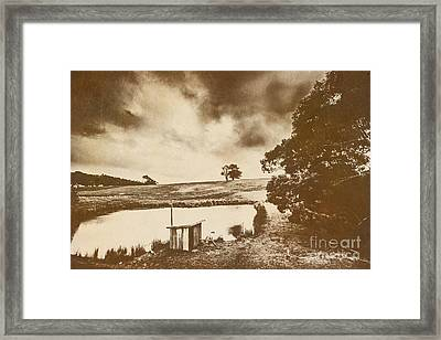 Weathered And Moody Old Farmland Framed Print